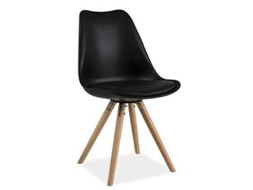 Krzesło eric czarny/buk ekoskóra/drewno signal