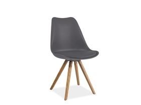 Krzesło eric szary/buk ekoskóra/drewno signal