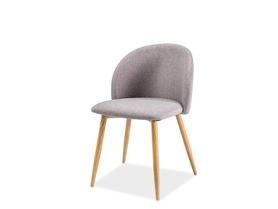 Krzesło Erin szara tkanina/metal dąb signal