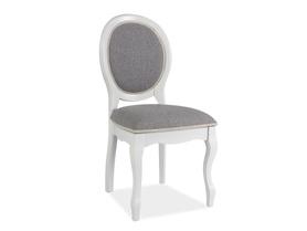 Krzesło FN-SC szara tkanina/białe drewno signal