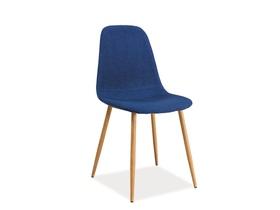 Krzesło Fox granat tapicerka/dąb metal signal