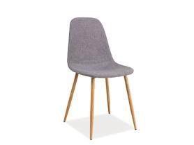 Krzesło Fox szara tapicerka/dąb metal signal