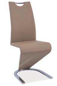Krzesło h-090 ciemny beż/chrom ekoskóra signal