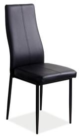 Krzesło H-145 czarna ekoskóra/metal signal