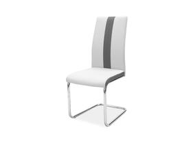 Krzesło H-200 jasno szara ekoskóra/chrom signal