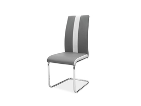 Krzesło H-200 szara ekoskóra/chrom signal