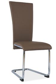 Krzesło na płozach h-224 latte/chrom ekoskóra signal