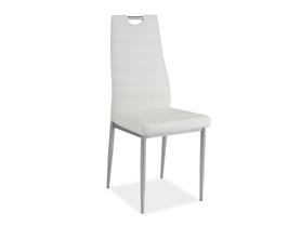 Krzesło h-260 biały/chrom ekoskóra signal