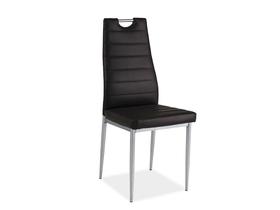 Krzesło H-260 brązowa ekoskóra/chrom signal