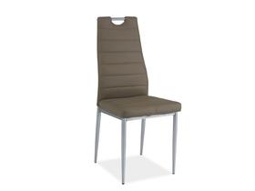 Krzesło h-260 ciemny beż/chrom ekoskóra signal