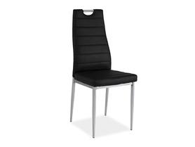 Krzesło H-260 czarna ekoskóra/chrom signal