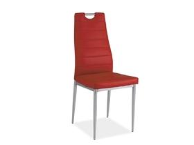 Krzesło h-260 czerwony/chrom ekoskóra signal