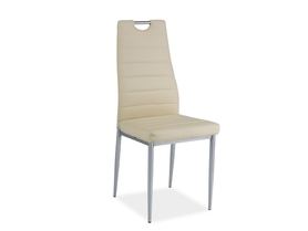Krzesło H-260 kremowa ekoskóra/chrom signal