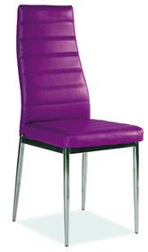 Krzesło H-261 ekoskóra fiolet/chrom signal
