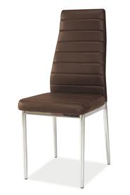 Krzesło H-261 brązowa ekoskóra/chrom signal