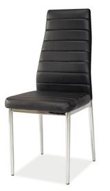Krzesło H-261 czarna ekoskóra/chrom signal