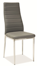 Krzesło H-261 szara ekoskóra/chrom signal
