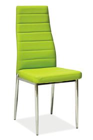 Krzesło H-261 zielona ekoskóra/chrom signal