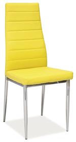 Krzesło H-261 żółta ekoskóra/chrom signal