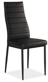 Krzesło h-261 czarno/czarne metal ekoskóra signal