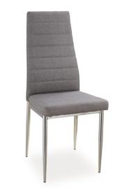Krzesło H-263 szara tkanina/chrom signal
