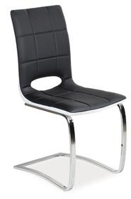 Krzesło h-431 czarny przód/biały tył płozy signal