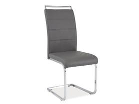 Krzesło na płozach h-441 szare/chrom płozy signal