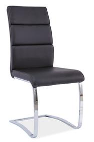 Krzesło h-456 czarne ekoskóra chrom/płozy signal