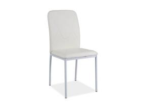 Krzesło h-623 biało/białe ekoskóra/metal signal