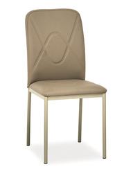 Krzesło h-623 ciemny beż/ciemny beż ekoskóra/metal signal