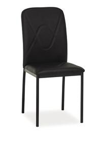 Krzesło h-623 czarno/czarne ekoskóra/metal signal