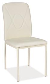 Krzesło h-623 kremowa ekoskóra/metal krem signal