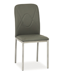 Krzesło h-623 szara ekoskóra/szary metal signal