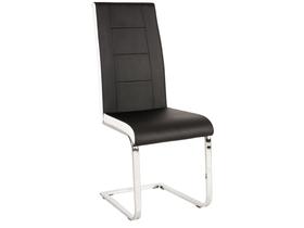 Krzesło na płozach h-629 czarno białe boki ekoskóra signal