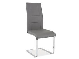 Krzesło na płozach h-629 szara ekoskóra signal