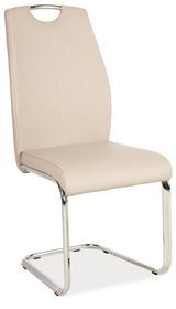 Krzesło płozy h-664 cappuccino ekoskóra/płozy signal