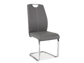Krzesło płozy h-664 szare ekoskóra/płozy signal