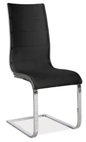 Krzesło płozy h-668 czarna eko/biały tył mdf signal