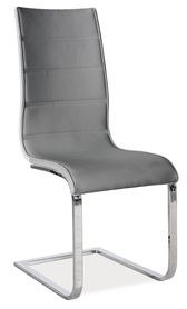 Krzesło h-668 szara eko/biały tył mdf/płozy signal