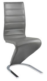 Krzesło na płozach h-669 szara eko/biały tył mdf signal