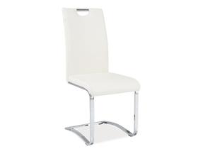 Krzesło na płozach h-790 krem ekoskóra/chrom signal