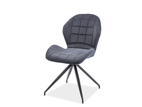Krzesło Hals II tkanina grafit/czarny metal signal