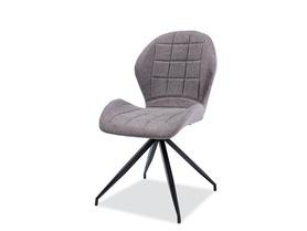 Krzesło Hals II szara tkanina/czarny metal signal
