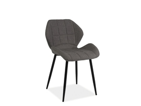 Krzesło Hals szara tkanina/czarny metal signal