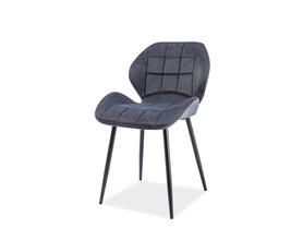 Krzesło Hals grafit tkanina/czarny metal signal