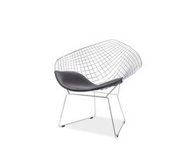 Krzesło remo czarna ekoskóra/chrom signal
