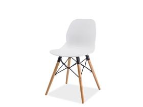 Krzesło italo i buk/biały drewno/tworzywo signal