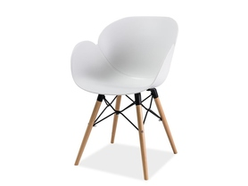 Krzesło italo ii buk/biały drewno/tworzywo signal