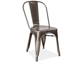 Krzesło loft stal szczotkowana signal