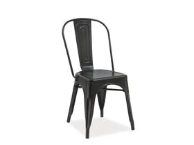 Krzesło loft czarny mat/metal signal